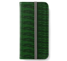 Glitchy Emerald iPhone Wallet