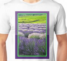 Lavender Fields Digital Watercolor Unisex T-Shirt