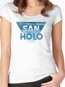 Good vibes with San Holo! Women's Fitted Scoop T-Shirt
