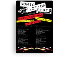 Sonic Fiction Fest 2: Eclectic Boogaloo Canvas Print