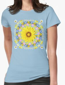 Yellow Everlastings with other Wildflowers Womens Fitted T-Shirt