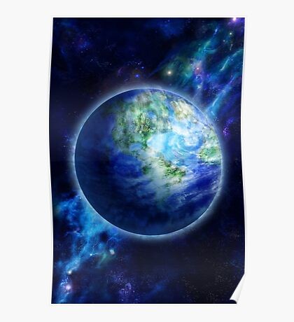 Beautiful Earth is in space Poster
