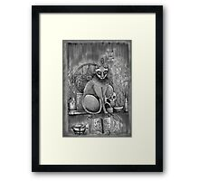 witch cat Framed Print