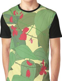 Scarlet runner beans pattern 1 Graphic T-Shirt