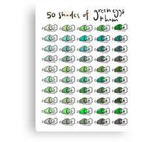 50 Shades of Green Eggs & Ham Canvas Print