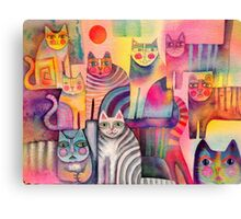Cats galore Canvas Print
