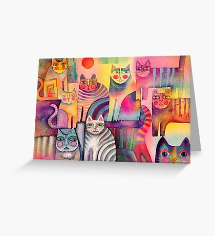 Cats galore Greeting Card