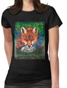 Undergrowth - Red Fox Womens Fitted T-Shirt