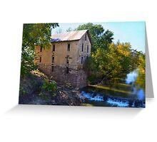 Historic Cedar Point Mill, Kansas Greeting Card