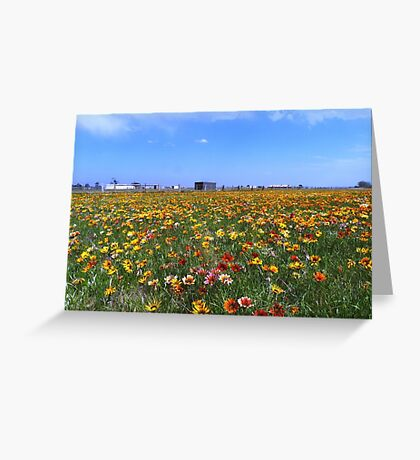 Flowerscape Greeting Card