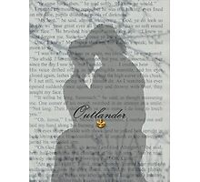 Jamie & Claire/Outlander book page Photographic Print