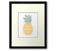 AGD Pineapple Framed Print