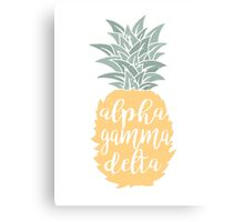 AGD Pineapple Canvas Print