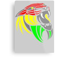 Reggae Music Cool Lion Reggae Colors T Shirts and Stickers Metal Print