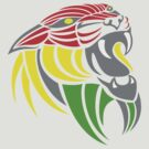 Reggae Music Cool Lion Reggae Colors T Shirts and Stickers by Denis Marsili