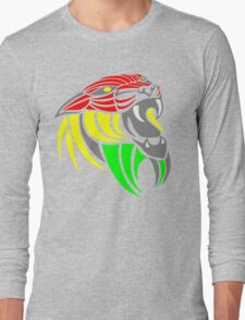 Reggae Music Cool Lion Reggae Colors T Shirts and Stickers Long Sleeve T-Shirt