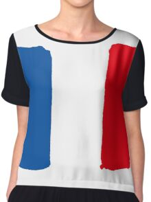 France flag Chiffon Top