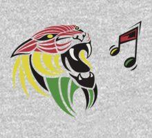 Grunge Reggae Music Lion Kids Tee
