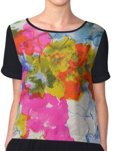 Silky Floral Print Chiffon Top