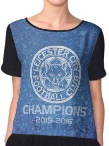 Leicester City Premier League Champions 3 Women's Chiffon Top