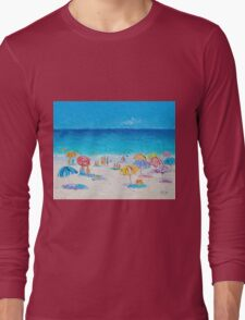 Beach painting - Last Day of Summer Long Sleeve T-Shirt