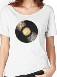 Vintage Vinyl Record Rust Texture - RETRO MUSIC DJ! Women's Relaxed Fit T-Shirt