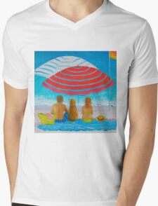 Beach painting - Happy Summer Days Mens V-Neck T-Shirt
