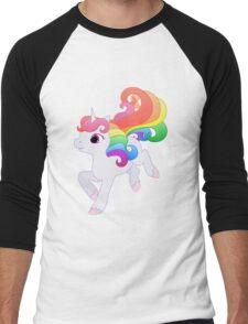Cute Baby Rainbow Unicorn Men's Baseball ¾ T-Shirt