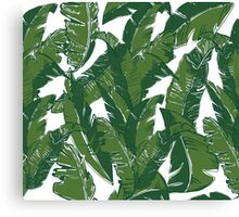 Leaves Bananique in Shell White Canvas Print