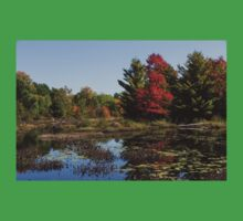 Red Maple - Still Forest Lake in the Fall Baby Tee