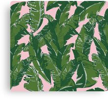 Leaves Bananique in Pink Conch Canvas Print