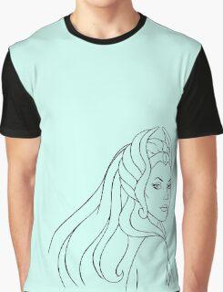 She-Ra Princess of Power (Black Line Art) Graphic T-Shirt