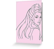 She-Ra Princess of Power (Black Line Art) Greeting Card