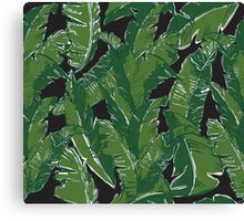 Leaves Bananique in Black Pearl Canvas Print