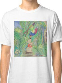 Puppy meets Rainbow Lorikeet  Classic T-Shirt