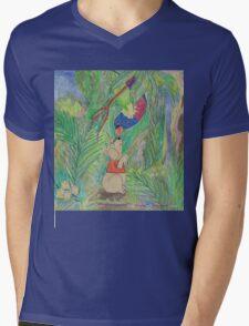 Puppy meets Rainbow Lorikeet  Mens V-Neck T-Shirt