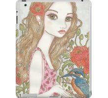 Girl and Kingfisher iPad Case/Skin