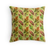 Fall Leaves in Watercolor Throw Pillow