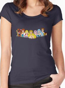 She-Ra Princess of Power - The Great Rebellion #2 - Color Women's Fitted Scoop T-Shirt