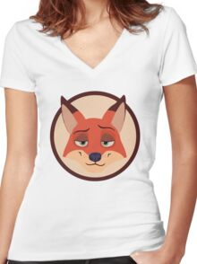 Nick Wilde - Zootopia  Women's Fitted V-Neck T-Shirt