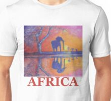 African Landscape with Elephant Unisex T-Shirt