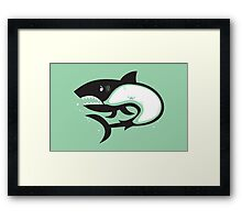 Crabby Shark Framed Print