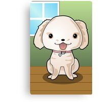 Cute Puppy Vector Drawing Canvas Print