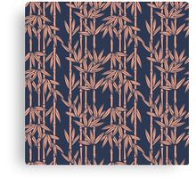 Bamboo Rainfall in Atlantic Navy/Salmon Canvas Print