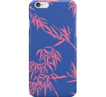 Bamboo Silhouettes in China Blue/Coral Reef iPhone Case/Skin