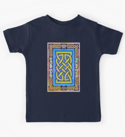 Celtic Lion Knot with Clover Kids Tee