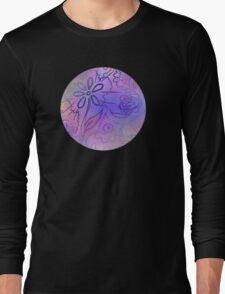 Pixel Tie Dye Creamsicle Floral Long Sleeve T-Shirt