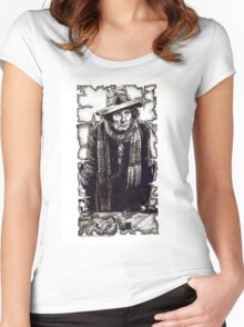 Tom Baker as The Doctor Women's Fitted Scoop T-Shirt