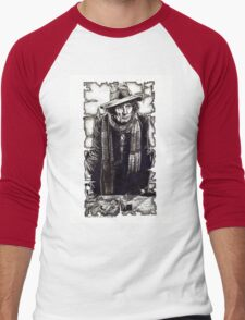 Tom Baker as The Doctor Men's Baseball ¾ T-Shirt