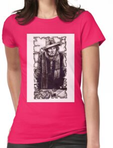Tom Baker as The Doctor Womens Fitted T-Shirt